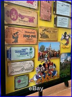 Vintage Disneyland Ticket Book Display Framed Coupon Original Walt Disney Rare