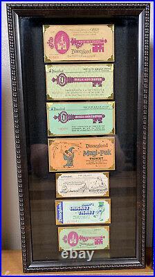 Vintage Disneyland Ticket Coupon Book A-E 3 Frames Walt Disney 1960s 1970s Rare
