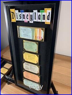 Vintage Disneyland Ticket Coupon Book A-E Framed 1970s Original Walt Disney