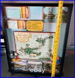 Vintage Disneyland Tom Sawyer Framed Original Ticket Coupon Walt Disney Rare