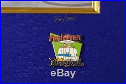 Vintage Disneyland Walt Disney Tomorrowland Pin Set 1967-1989 Framed 1955 1960s