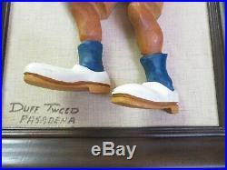 Vintage Duff Tweed Wood Carved Sailor Figure Walt Disney Artist Original Signed