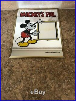 Vintage Mickey's Pal Mirror Picture Frame 8x10 Walt Disney Mickey Mouse