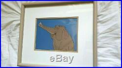 Vintage Original 1967 Walt Disney Animation Cel Jungle Book Framed Elephant COA