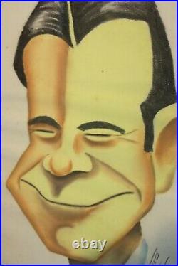 Vintage Signed DUFF TWEED Walt Disney Artist 40s PASTEL of Joe E Brown