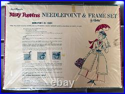 Vintage Walt Disney Hasbro Mary Poppins Needlepoint & Frame Set 1965