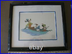 Vintage Walt Disney Mickey Mouse & the Beanstalk Serigraph Cell Framed COA 1994