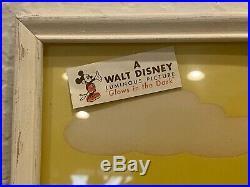 Vintage Walt Disney Productions Framed Mickey & Minnie Set 8 X 10 Prints 1940s