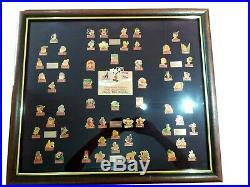 Vintage Walt Disney World Coke Coca Cola Framed Pin Set Lot Birthday Framed Art