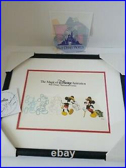 Vintage Walt Disney World Parks Animation Cell In Frame Mickey Mouse 1998