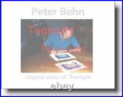 Voice Thumper Hand Signed Bambi 1942 Walt Disney 8x10 New Frame 11x14