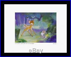 Voice Thumper Hand Signed Bambi 1942 Walt Disney NEW 11x14 print Framed