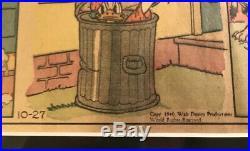 Vtg Donald Duck Walt Disney Newspaper Comic Matted Framed