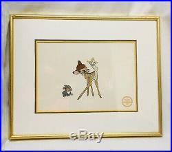 WALT DISNEY Bambi & Thumper FRAMED Animation Cel Serigraph LIMITED EDITION COA