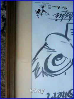 WALT DISNEY Chip and Dale FRAMED ORIGINAL marker DRAWING BY BILL JUSTICE