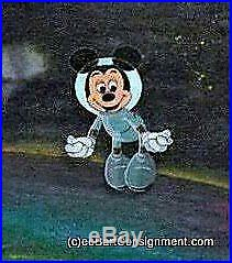 WALT DISNEY Framed MICKEY MOUSE in Space Hand Painted Cel & Background