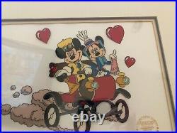 WALT DISNEY LIMITED EDITION SERIGRAPH FRAMED ART Mickey Mouse & Minnie Gift Idea