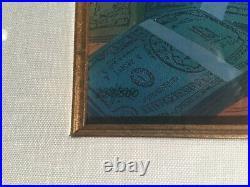 WALT DISNEY SCROOGE MCDUCK AND MONEY FRAMED CEL, limited 258/500