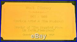 WALT DISNEY SIGNATURE MUSEUM FRAMED 3x5 CARD OVERALL 12x25 SUPERB