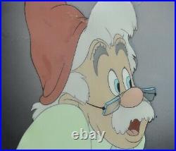 WALT DISNEY STUDIOS-Original 1939 LARGE Celluloid-Pinocchio-Geppetto