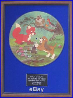 WALT DISNEY'S -Motion Picture Soundtrack- FOX AND THE HOUND -Framed Picture Disc