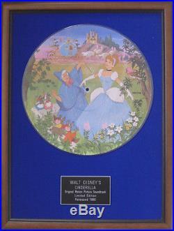 WALT DISNEY'S-Original Motion Picture Soundtrack-CINDERELLA- Framed Picture Disc