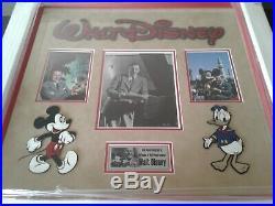 WALT DISNEY Signed Vintage 8 X 10 Photograph Custom Framed With C. O. A