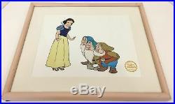 WALT DISNEY Snow White with 3 Dwarfs Serigraph Cell Limited Edition 18x15 04402