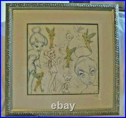 WALT DISNEY TINKER BELL FRAMED PIN SET LIMITED EDITION With COA