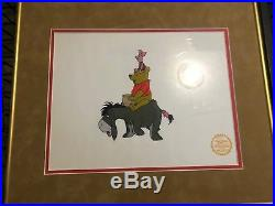 WALT DISNEY WINNIE THE POOH AND THE BLISTERY DAY FRAMED ART CELL With COA