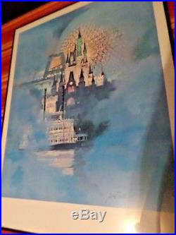 WALT DISNEY WORLD 15TH ANNIVERSARY MAGICAL DREAMS art print Litho with COA Framed