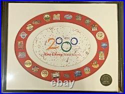 WALT DISNEY WORLD Resort Hotel Logo 2000 DVC LE 100 WDW 22 Framed Pin Set
