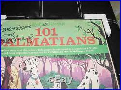 WALT DISNEY signed AUTO 101 DALMATIONS album LP photo FRAMED coa & hologram