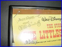 WALT DISNEY signed AUTO LITTLEST OUTLAW album LP photo FRAMED coa & hologram