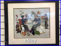 WALT Disney Mary POPPINS Supercalifragilistic TEA PARTY framed art SERICEL LE500