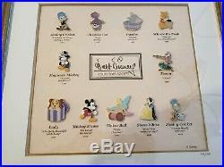 WDCC Walt Disney Collectors Society Framed Pin Set 569/1500 Rare VHTF with COA