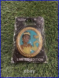 WDI Walt Disney Imagineering Tiana Princess Frog Portrait Gold Frame Pin LE 250