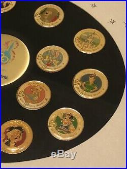 WDW Walt Disney World 20th Anniversary Magical Years Framed Pin Set! Splash Brer