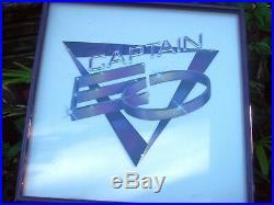 Walt DISNEY World RARE CAPTAIN EO framed 3D COLLAGE ART from Captain EO Pavilion