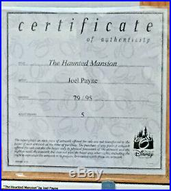 Walt DISNEY World THE HAUNTED MANSION by Joel Payne Framed LE 95 Giclee NEW