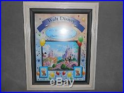 Walt Disney 100 Years Of Magic Birthday Celebration Mint Stamp Collectible Frame