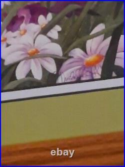 Walt Disney 14x16 Print & signed Bambi, Thumper, Flower Custom Gallery Framed