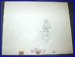 Walt Disney 1959 Sleeping Beauty Production Drawing of Briar Rose Custom Frame