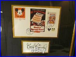 Walt Disney 1st Day Canceled Stamp Mickey's Birthday LE Signed Framed Art NWT