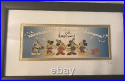 Walt Disney 2000 mickey millenium framed pin set