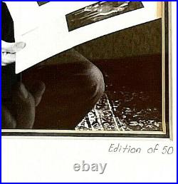 Walt Disney 7 dwarfs ed. 50 black & white framed & matted photo print