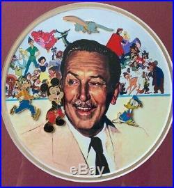 Walt Disney A Family Pin Gathering Dumbo Donald Mickey Framed LE 75 Pin Set