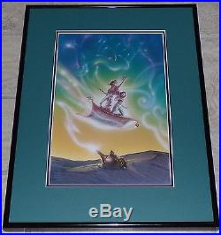 Walt Disney Aladdin Original Framed Airbrush Painting Concept Art John Alvin