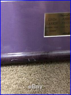 Walt Disney Aladdin Signed Autographed Framed Poster Larkin Freeman Weinger COA