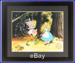 Walt Disney Alice in Wonderland Custom Framed Limited Edition Serigraph Cel